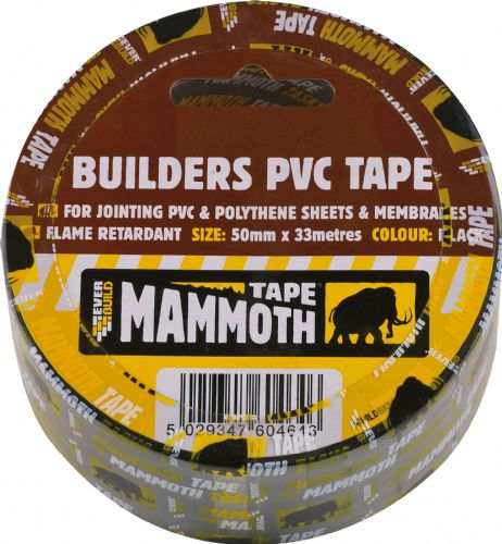 Builders PVC Tape 50mm x 33m